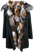Yves Salomon Multi Fox Fur Parka