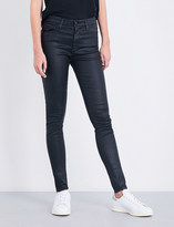 AG Jeans The Farrah super skinny mid-rise leatherette jeans
