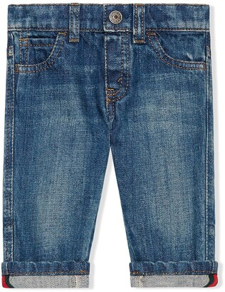 Gucci Kids Baby washed denim jeans