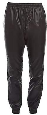 Versace Men's Faux Leather Joggers