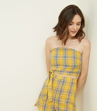 New Look Parisian Check Tie Side Bandeau