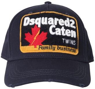 DSQUARED2 Cotton Canvas Baseball Hat W/ Patch