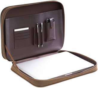 Bey-Berk Brown Ultra Suede & Leather Computer Carrying Case