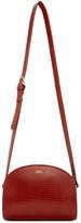 A.P.C. Red Lizard-Embossed Demi-Lune Bag