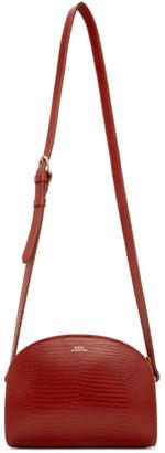A.P.C. Red Lizard Mini Demi-Lune Bag