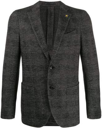Lardini checked single-breasted blazer