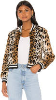 BB Dakota Cat Power Faux Fur Bomber Jacket