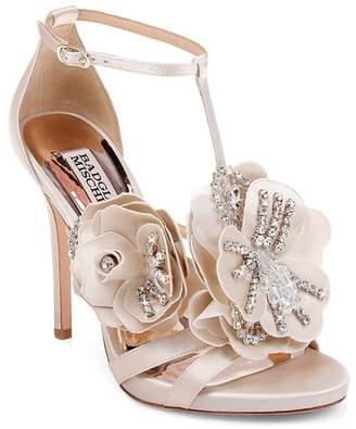 Badgley Mischka Women's Lisa Embellished Satin Floral Appliqué High-Heel Sandals