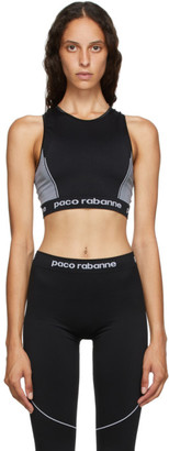 Paco Rabanne Black Bodyline Sports Bra