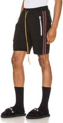 Rhude Traxedo Shorts in Black & Red | FWRD