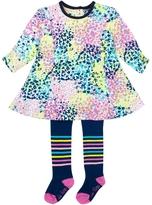 Le Top Confetti Print Dress & Striped Tights