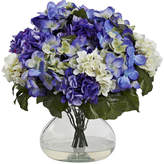 Asstd National Brand Nearly Natural Hydrangea With Large Vase