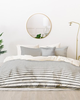 Express Deny Designs Stripes In Grey Bedding Set