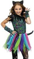Fun World Costumes Girls Wild Rainbow Cat Costume Size 8-10