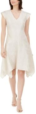 Natori N Botanical Jacquard Handkerchief-Hem Dress