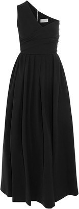 Preen by Thornton Bregazzi April One-shoulder Pleated Crepe Midi Dress