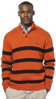 Chaps Men's Classic-Fit Striped Mockneck Twist Sweater