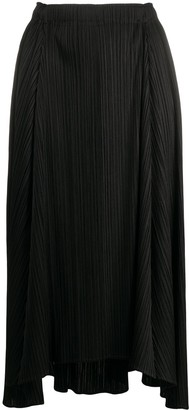 Pleats Please Issey Miyake High-Rise Pleated Midi Skirt