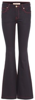 Burberry High-rise flare cotton-blend trousers