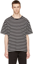 Burberry Black & White Striped T-Shirt