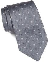John Varvatos Men's Star Print Silk Tie