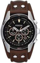 Fossil Mens Chronograph Cuff Watch from the Coachman Range