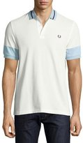 Fred Perry Colorblock Pique Polo Shirt, White