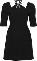 Marni Embellished Neck Mini Dress