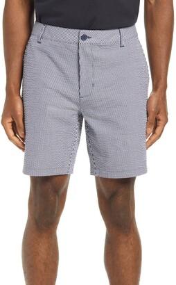 Rhone Flat Front Seersucker Resort Shorts