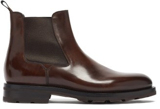Santoni Colin Leather Chelsea Boots - Dark Brown