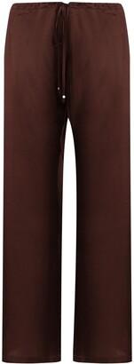 La Perla Macrame silk pajama trousers