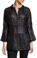 Giorgio Armani Leather Lace Jacket