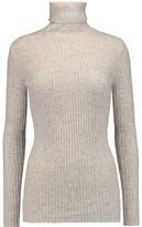 Autumn Cashmere Ribbed Cashmere Turtleneck Sweater