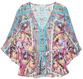 Etro Printed silk cover-up