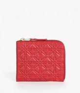 Comme des Garcons Half Zip Star Embossed Wallet