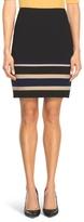 White House Black Market Colorblock Stripe Straight Skirt