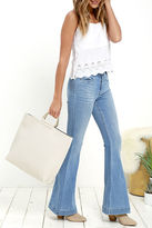 LuLu*s Toss Up Navy and Ivory Reversible Tote