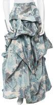 Monique Lhuillier Silk Floral Skirt