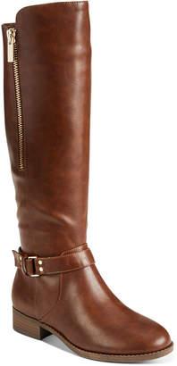 Material Girl Women Winnnie Strap Riding Boots, Women Shoes