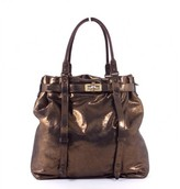 Lanvin excellent (EX Gold Shimmery Metallic Kentucky Bag