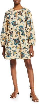 A.L.C. Myra Printed Long-Sleeve Dress