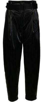 FEDERICA TOSI Black High-waisted Trousers
