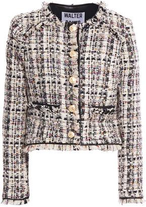 Walter Baker Frayed Boucle-tweed Jacket