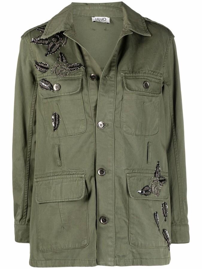 Liu Jo Jewel-Embroidered Military Jacket