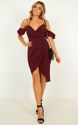 Showpo A Fair Go Dress In wine - 6 (XS) Dresses