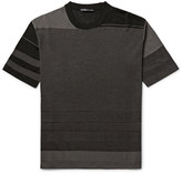 Issey Miyake Men - Slim-fit Striped Birdseye-knit T-shirt