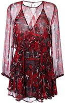 IRO sheer ruffle mini dress