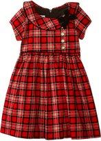 Bonnie Jean Little Girls' Toddler Tartan Plaid Corduroy Dress