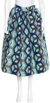 Stella Jean Abstract Print Midi Skirt