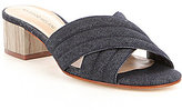 Antonio Melani Juden Denim Block Heel Slip-On Mules